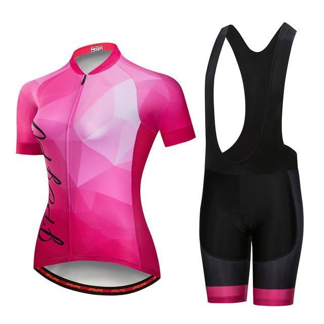 Summer Short Sleeve Cycling Jersey Set Women Breathable Mtb Bicycle Cycling  Clothing Downhill 0cde8d130