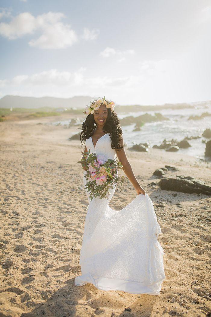 Dreamy Hawaiian Bride  #wedding #beachbride #bride #hawaii #destinationwedding #beachwedding