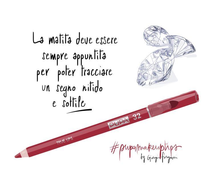 PUPA lips make up tips by Giorgio Forgani, Open Toe illustrations