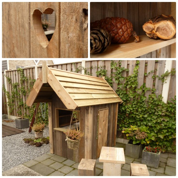Children's playhouse made out of reclaimed wood