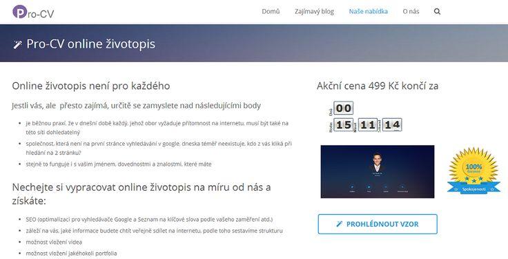 Online životopis není pro každého. Více informací o této novince najdete v naší nabídce. Přejeme hezký zbytek večera http://www.pro-cv.cz/nase-nabidka/