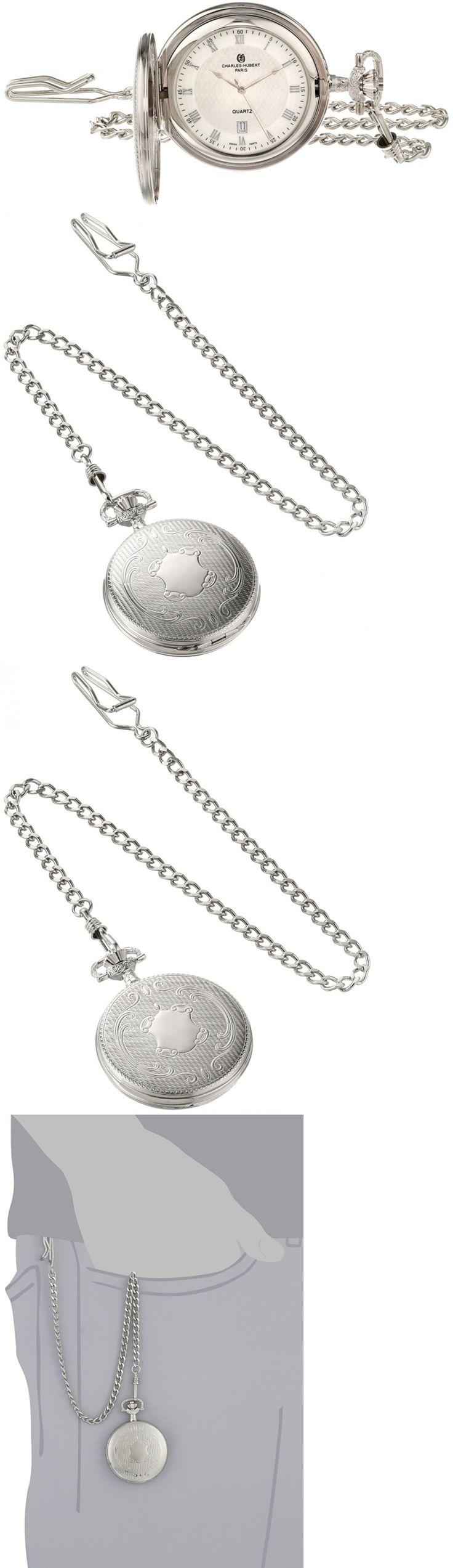 Modern 3938: Charles-Hubert, Paris Quartz Pocket Watch -> BUY IT NOW ONLY: $92.99 on eBay!
