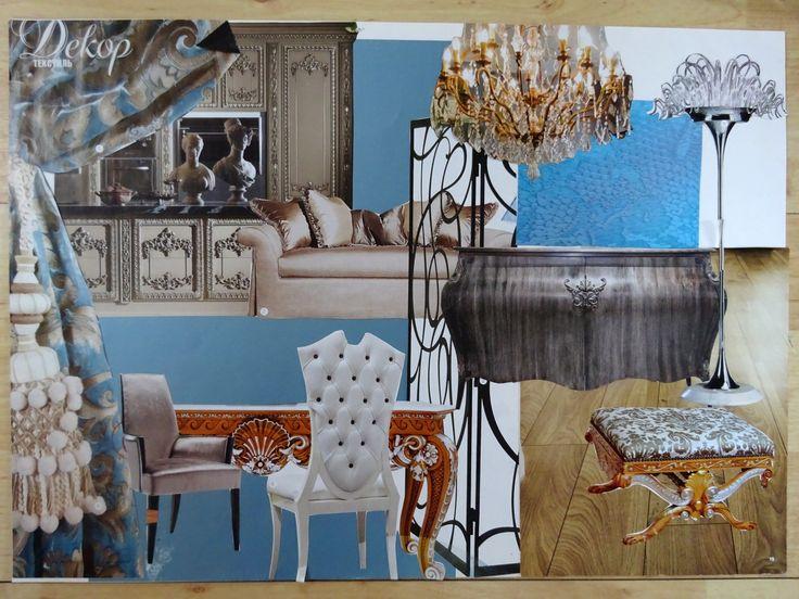 Collage. Conception. Female interior. Это концепт интерьера с женским характером. #krapivinairina  #моипроекты #дизайнинтерьера #концепт #коллаж