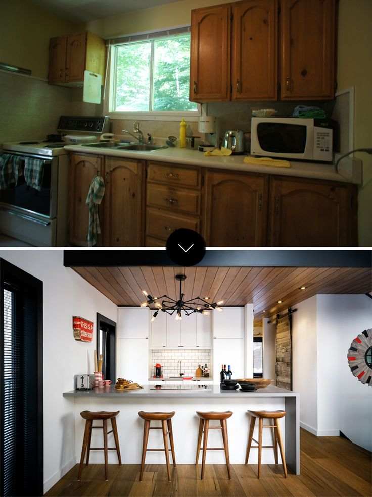Before And After A Designer Cottage In Haliburton County Ontario Design Sponge