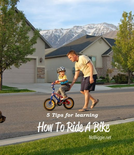 best way to teach how to ride a bike