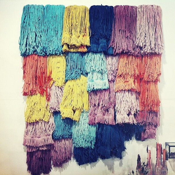 DIY Dyed Mops - weaving inspiration