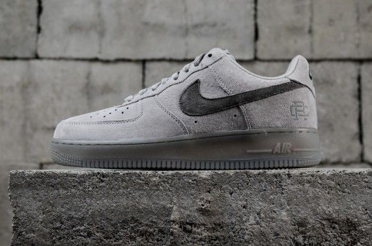 626a5a7480338 Reigning Champ X Nike Air Force 1 Low Gray AA1117-118