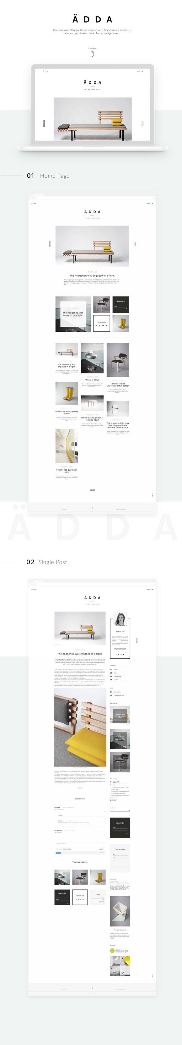 Ädda - Design & Lifestyle Blog by Mlekoshi Design Concept on @creativemarket