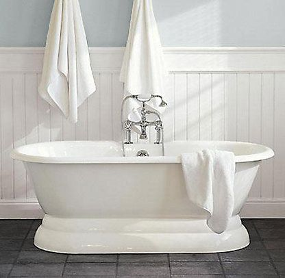 Tubs | Restoration Hardware Palais pedestal tub and tub fill with handheld shower
