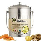 Poubelle inox bac a compost 5 litres - Kitchen Craft - Kookit