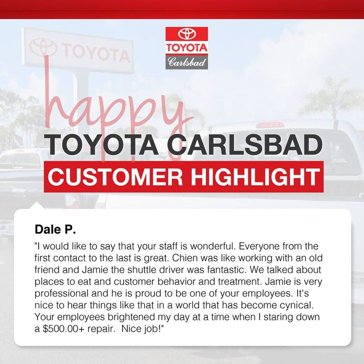 We love hearing from our #customers! #ToyotaLovingCare #Carlsbad