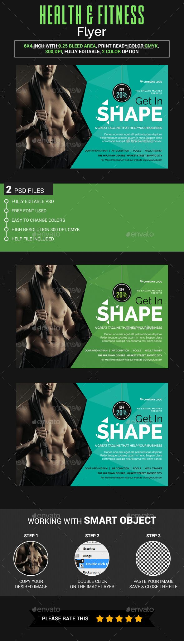 Best Fitness Flyer  Sport Flyer  Print Templates  Psd
