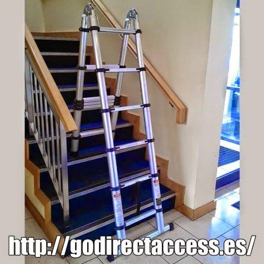 Escalera profesional, Variedad de escaleras de aluminio, Te asesoramos en la compra de escalera articulada.  Disponemos de escalera telescópica (también en escalera tijera), escalera multifuncion así como la escalera andamio. Si estás interesado en las escaleras de aluminio, esta es tu página. Escaleras de mano EN 131. Escaleras de aluminio. #escalerastelescópicas #escaleras #streetart #pintor #artista #fotografía #reformas #mantenimiento #instalaciones #aluminio #envíoGratis