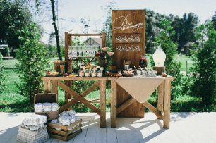 Сладкий стол в деревенском стиле