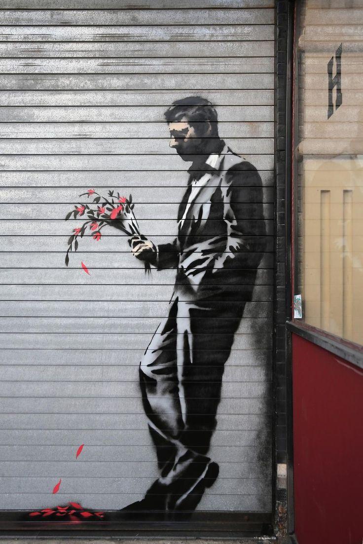 Une oeuvre de Bansky à New York, en octobre 2013.