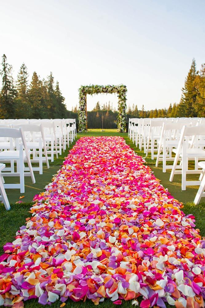 24 Beautiful Wedding Aisle Decoration Ideas ❤ It's so important to put attention on aisle decoration, place where you will say the most important words. Consider ours wedding aisle decoration ideas! See more: http://www.weddingforward.com/wedding-aisle-decoration-ideas/ #weddings #aisledecoration