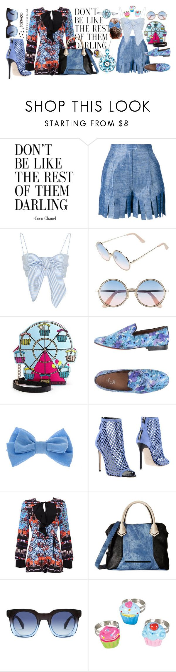 """""""Weekday Blues"""" by styleonapinch on Polyvore featuring Tata Naka, Sunday Somewhere, Betsey Johnson, Communication Love, claire's, Grey Mer, Clover Canyon, Steve Madden, Marc by Marc Jacobs and Eclectic Eccentricity"""