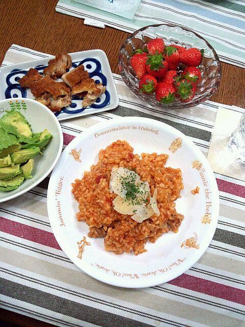 To: mushroOmcafe thanks (^_^)v - 3件のもぐもぐ - トマトリゾットとアボカドサラダ by igu