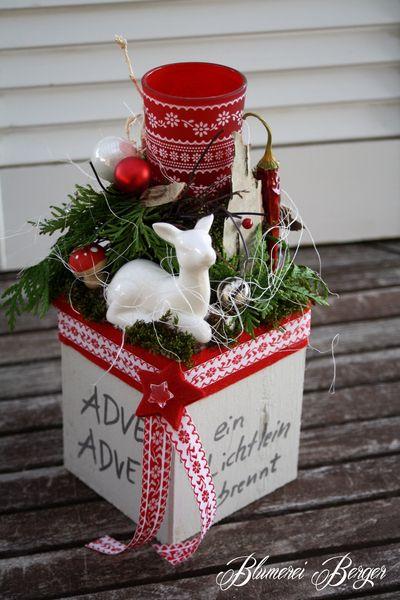 ::::+Adventsgesteck+Rehlein+::::+von+::::::::+Blumerei+Berger+::::::::+auf+DaWanda.com