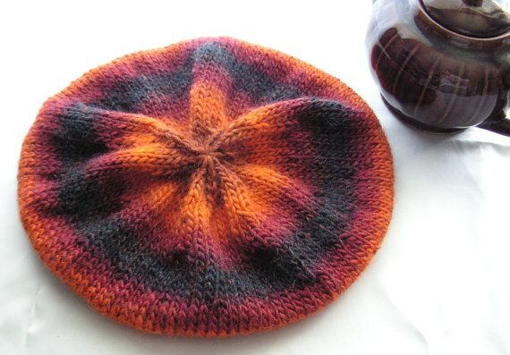 Winter Hat Adult Size Beret Style Cap Hand Knit Winter Fashion