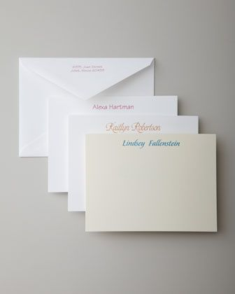Casual Correspondence Cards by Carlson Craft at Horchow.