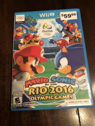 Mario & Sonic at the Rio 2016 Olympic Games - Rare display case (Nintendo Wii U): $70.00 End Date: Friday Apr-6-2018 18:53:31 PDT Buy It…