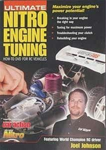 Airage Ultimate Nitro Engine Tuning DVD by Airage. $12.88. Rebuilding your nitro engine. Clutch tuning and troubleshooting. Engine break-in and tuning. Pro pit tips and racing advice. In the Ultimate Nitro Engine Tuning DVD by Air Age, RC racing legend Joel Johnson takes you step-by step through the essential techniques that will help you get the most out of your nitro engine. The most important component in a nitro-powered vehicle is its engine. Setting up, mai...