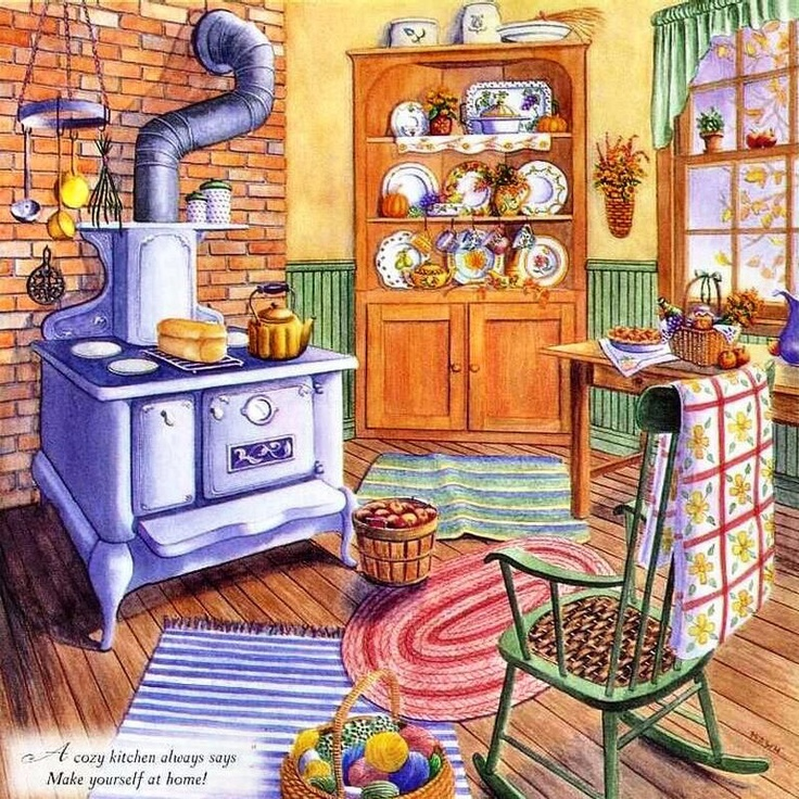 Kitchen Nook For Example Crossword: Art: Charming Interiors