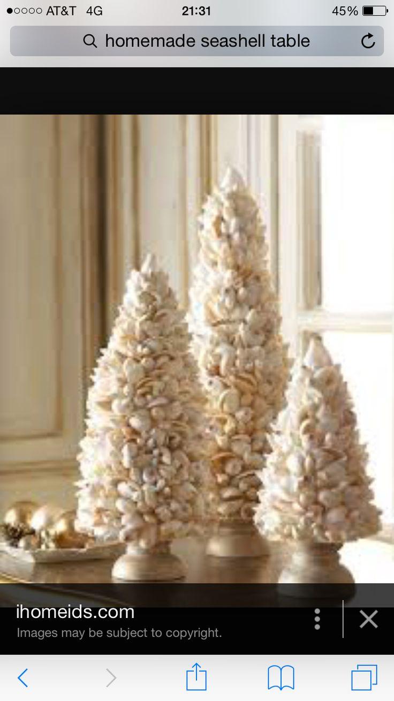 Cute shell Christmas trees
