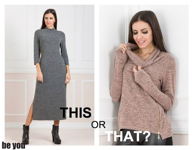 Which one is your favorite? φόρεμα > https://goo.gl/jgvZFS μπλούζα > https://goo.gl/1l9bMO  #pickyourlook #outfitinspiration #knitwear #beyoucomgr