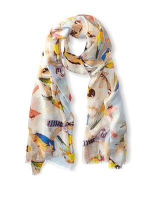 67% OFF Saachi Women's Singing Birds Digital Print Scarf, Multi