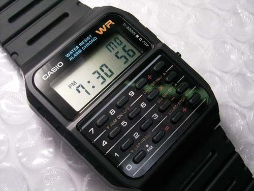 El típico reloj CASIO que usaban los chamosen los años 80.