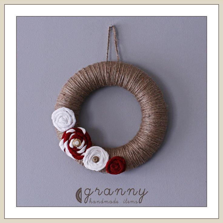 handmade winter wreath