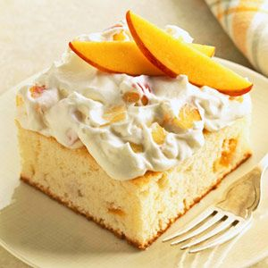 Peaches & Cream Cake + 4 or 5 other amazing peach desserts.