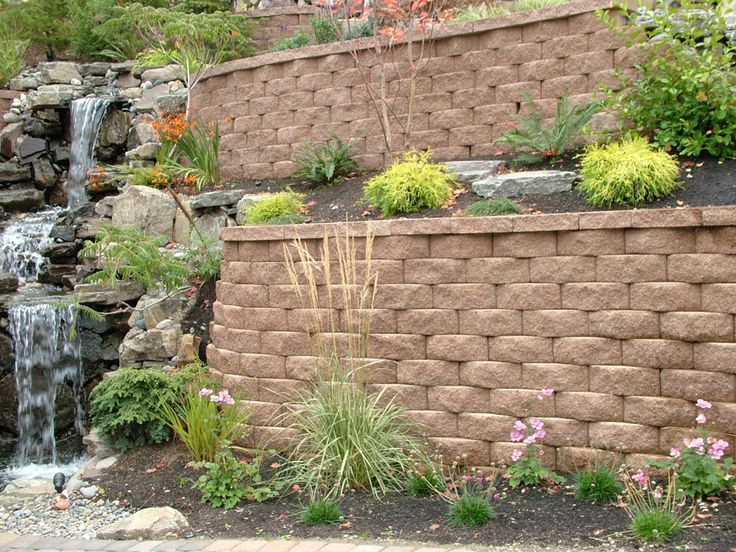 78 best images about house retaining walls on pinterest for Retaining wall plants landscaping