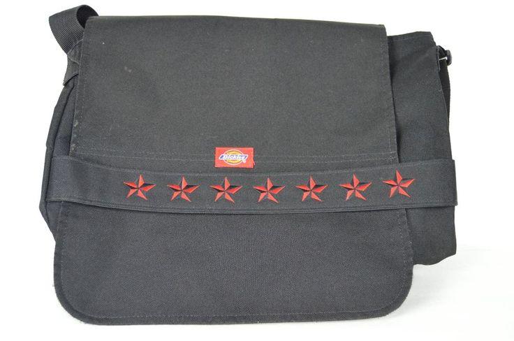 Dickies Black Red Star Messenger Laptop Computer Student Bag #Dickies #MessengerShoulderBag