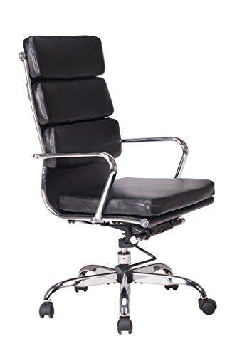 Características principales: -Silla de cuero negro regenerado de alta calidad, tacto suave, asiento y respaldo acolchados para un mayor c