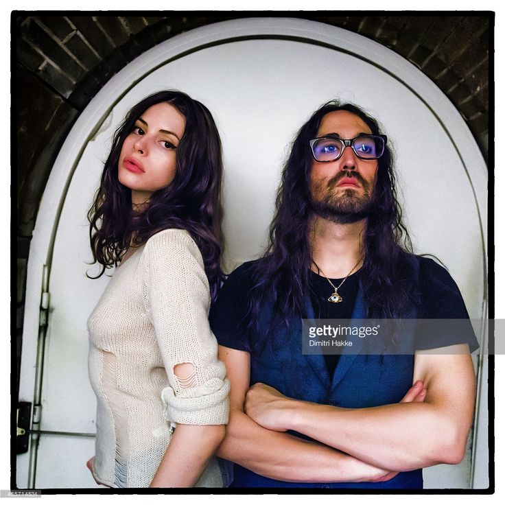 Charlotte Kemp Muhl and Sean Lennon of The Ghost of a Saber Tooth Tiger (GOASTT) pose backstage at Rotown on September 12, 2014 in Rotterdam, Netherlands.