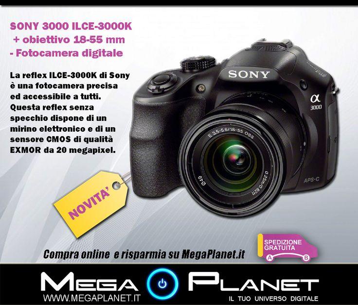 NOVITA' : http://www.megaplanet.it/fotocamere-reflex-per-tutti/11183-sony-3000-ilce-3000k-obiettivo-18-55-mm-fotocamera-digitale-4905524945416.html