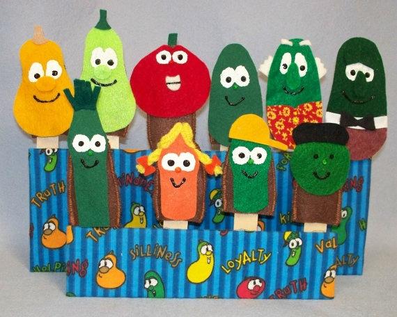 Felt Veggie Tales Puppets Felt Crafts Pinterest