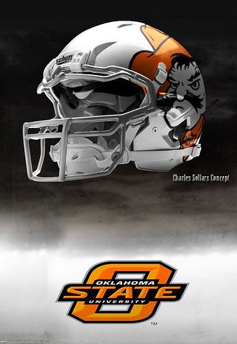 Oklahoma State football helmets .....sharp ....:)