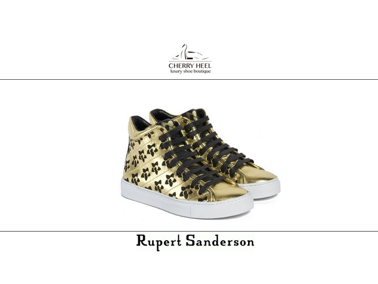 #RupertSanderson #sneakers in #gold calf leather with #black detailes are simply perfect for relaxed but chic strolls in the city and in the countryside. Available in #CherryHeel #Barcelona and online at www.cherryheel.com  Check our selection of #unique and #fabulous sneakers for #women here: http://cherryheel.com/en/18-sneakers-woman  #shoes #iloveshoes #shoppingbarcelona #madeinitaly #style #woman #fashion #italianfashion #italianstyle #bestshop #bestshoes #shoponline #musthaves…