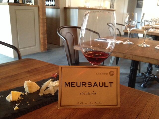 Meursault Wine Bar on Nantucket Island.  Features European wines and cheeses.