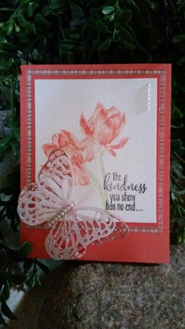 Lotus blossom in Stampin Up sale-a-bration catalog 2015