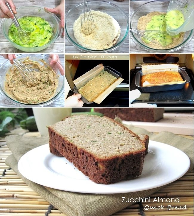Zucchini almond quick bread atkins diet phase 2 recipe for Atkins cuisine bread