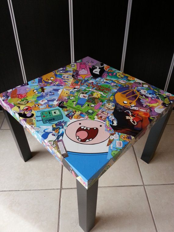 Adventure Time with Finn and Jake Collage Table FREE by Barbie3386, $140.00