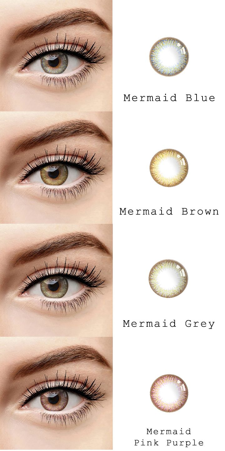 Microeyelenses Com Colored Contact Lenses Online Shop Mermaid Series Blue Brown Gray And Pi Contact Lenses Colored Coloured Contact Lenses Colored Contacts
