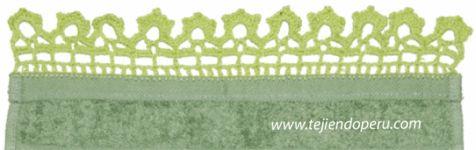 tutorial: cenefa para aplicar tejida a crochet # 7
