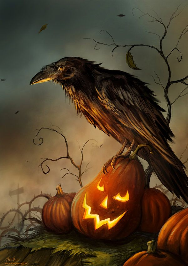 Inspiration: Halloween Raven by jerry8448.deviantart.com on @deviantART #DON 10