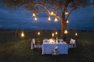 Sundown dinner in Kenya